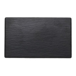 Q Squared NYC - Faux Slate Small Serving Platter - Let the Faux Slate platters create a dramatic backdrop for any assortment of sushi, snacks or sweets. No chalky residue, chip-free and dishwasher safe