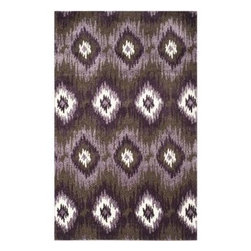 Safavieh - Safavieh Retro RET2143-2873 5' x 8' Dark Brown, Eggplant Rug - Safavieh channels the Sixties with Retro Shag, a cool new spin on the essential floor covering of mid-century modern style. The perfect complements to clean-lined furniture of the period, these chic black and white designs morph into tones of gray, silver and ivory in patterns from Pollack-inspired abstracts to contemporary graphics. Machine-loomed in Turkey of 100 percent polypropylene, our low-pile Retro Shag rugs combine beauty, easy care and outstanding performance