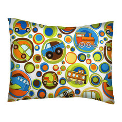 SheetWorld - SheetWorld Twin Pillow Case - Percale Pillow Case - Transportation Bubbles - Twin Pillow Case. Made of an all cotton percale fabric. Features a beautiful Transportation Bubbles print.