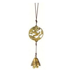 DZI Handmade Designs - Dragon Tibet Door Chime - In the Asian tradition, the cosmic dragon is considered a universal symbol of harmony, virtue, prosperity and long life. Its magnificent coat of luminescent scales is just one part of the ancient myth that continues to inspire and endure.