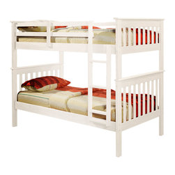 Donco Kids Donco Kids 39 Bunk Bed With Built In Ladder