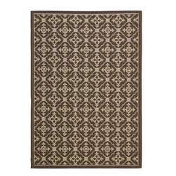 Safavieh - Courtyard Brown Area Rug CY6565-402 - Safavieh takes classic beauty outside of the home with the launch of their Courtyard Collection. Made in Belgium with enhanced polypropylene for extra durability, these rugs are suitable for anywhere inside or outside of the house. To achieve more intricate and elaborate details in the designs, Safavieh used a specially-developed sisal weave.