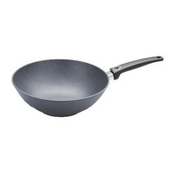 """Woll - Woll Diamond Plus Stir Fry Pan / Wok, 11.75"""" - Health Conscious: Woll Diamond Plus' non-stick coating makes for health-conscious, vitamin-friendly cooking. WOLL professional cast products allow you to prepare food with little or even no fat"""" and no sticking!PFOA free, metal utensil, oven, and Dishwasher safe.Sturdy: The surface finish ensures a long life: WOLL professional cast products are resistant to cuts and abrasion.Optimal: WOLL professional cast products display optimal thermal absorption and heat distribution. The extra-strong, cast bottom prevents distortion, even at extreme temperatures.Dimensions: 12"""" e"""" x 4""""HeightGuarantee: 25-year guarantee on surface evenness, as well as 3 years on the coating and handles. Constant quality checks ensure this high standard."""
