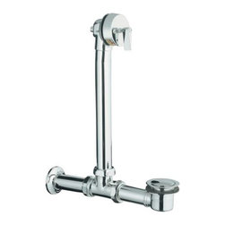 KOHLER - KOHLER K-7104-CP Iron Works Exposed Bath Drain for Above-the-Floor Installation - KOHLER K-7104-CP Iron Works Exposed Bath Drain for above-the-floor installation in Chrome