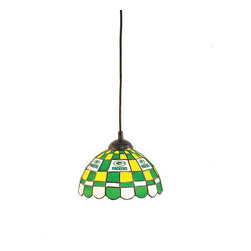 Imperial International - Green Bay Packers NFL 8 - Pendant Light - Check out this great pendant light. It's hand-cut and assembled using and old-world craftsman copper foil technique. It's perfect for your Man Cave, Game Room, Bar, or anywhere you want to show love for your favorite team.