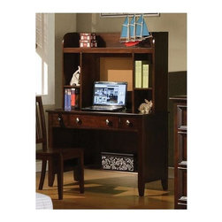 Winners Only - Del Mar Desk in Chocolate Finish - Includes only desk. Hutch is optional. Desk with three drawers and one shelf. Hutch with three shelves. Desk: 44 in. W x 21 in. D x 30 in. H. Hutch: 42 in. W x 11 in. D x 30 in. H