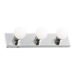 "Design House - Design House 500850 Strip Light 3 Light Ambient Lighting Bathroom Vanity Fixture - Design House 3 Light Polished Chrome 18"" Bath LightChrome Bath Light."