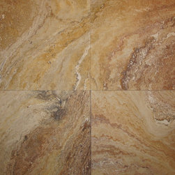 Autumn Blend Travertine Tile - Autumn Blend Filled & Honed Travertine Tiles. Please visit www.stone-mart.com or call (813) 885-6900 for more information.