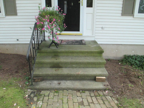 Covering a concrete stoop with wood - Houzz