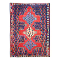 "ALRUG - Handmade Multi-colored Persian Kilim  3' 11"" x 5' 4"" (ft) - Gorgeous Senneh Persian Kilim from Iran"
