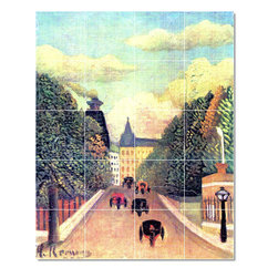 Picture-Tiles, LLC - The Hackney Carriages Tile Mural By Jean Jacques Rousseau - * MURAL SIZE: 30x24 inch tile mural using (20) 6x6 ceramic tiles-satin finish.