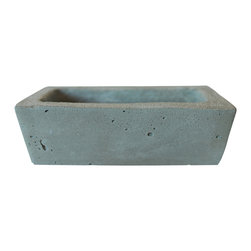 Anson Design CO - Rectangular Concrete Planter - Eco Friendly - Home and Garden Decor - Zen Decor - This rectangular concrete planter is a great way to mix and match your favorite plants. Makes for a great window planter for your modern or industrial home.