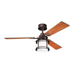 """Kichler Lighting 300157OBB Pacific Edge Brushed Bronze 52"""" Ceiling Fan - 1 Bulb, Bulb Type: 100 Watt Mini Can Halogen, Bulb Included; Fan Control: 6-Speed Full Function CoolTouch; Weight: 27.50lbs"""