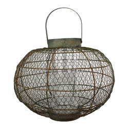 Homart - Industrial Globe Party Lantern Medium - Inspired by California living and architecture our Urban Tree House Collection develops many one-of-a-kind decorative accessories, recycling products destined for landfills and transforming them into amazingly unique home and garden accents that comfortably mingle with any decor. Our pieces are heirloom worthy but not overly precious and will bring a level of authenticity to your space, indoors or out!