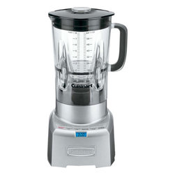 Cuisinart - PowerEdge 1000-watt Blender with 64-ounce Jar - The Cuisinart Poweredge 1000-watt blender is constructed with a heavy die-cast metal base and a lightweight, 64-ounce Bisphenol A free Tritan copolyester blender jar from Eastman. Ideal for today's gourmet kitchen, it is the perfect combination of high style and high tech! We have added pre-programmed Smoothie, Ice Crush, and Pulse functions to blend smoothies, frozen drinks, or crush ice flawlessly Features: -Base material: Heavy die-cast metal.-Powerful 6 turbo-edge design enhances vortex performance with better turbulent flow.-Auto preprogrammed smoothie, ice crush and pulse functions.-BPA-free tritan copolyester blender jar from Eastman.-Ergonomic comfort grip handle.-Die cast metal housing with backlit functions.-Backlit count-up timer with beep after 4 minutes of blending time.-Standby mode.-Capacity: 64 Ounce.-Distressed: No.Specifications: -1000 Watts of blender power.