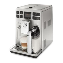 Saeco - Philips Saeco Exprelia HD8856/47 Stainless Steel Automatic Espresso Machine - With a simple touch of a button, the super automatic Exprelia lets you immediately enjoy your favorite café drinks thanks to a convenient beverage selection interface, built-in double boiler for instant steam and integrated automatic milk function.