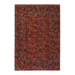 "Couristan - Timeless Treasures Afghan Panel Rug 4708/0032 - 4'6"" x 6'6"" - Because these area rugs contain such exquisite detail, other patterns showcased in your room-setting should be represented on a smaller scale. Choose a secondary color found in your area rug and complement it with your wall paint or use pillows and fabrics that are similar. Layering colors and textures makes your interior decor feel cohesive and well thought out."