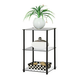 Convenience Concepts - Convenience Concepts Accent Table X-B300751 - Designs2Go&trade: Classic Glass 3 Tier End Table is the perfect complement to any living room d&#233:cor. Featuring an open modern design that provides 3 spacious glass shelves for decoration, collections or art objects. Surely will provide years of enjoyment