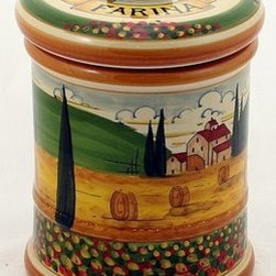 Artistica - Hand Made in Italy - Paesaggio Toscana: Large Canister 'Farina' - Paesaggio Toscana:
