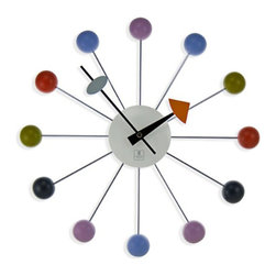 Cupecoy - Retro Metal Wood Ball Clock - With so many on offer recently, it is good to have a brand you can recognize. The Metal Wood Ball Clock Retro 1960s Multi Color Primary is certainly that and will be a superb acquisition.