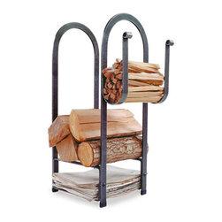 """Enclume - Premier Fire Center Log Rack - Dimensions: 12""""L x 13""""W x 34"""" H"""
