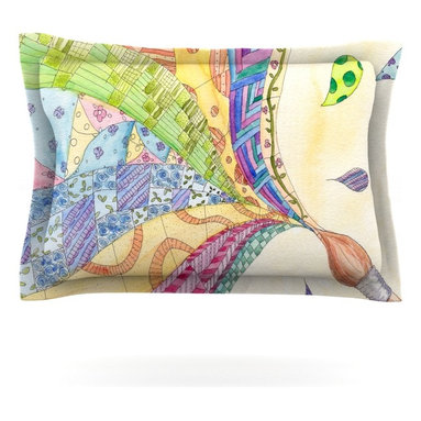"""Kess InHouse - Catherine Holcombe """"The Painted Quilt"""" Pillow Sham (Cotton, 40"""" x 20"""") - Pairing your already chic duvet cover with playful pillow shams is the perfect way to tie your bedroom together. There are endless possibilities to feed your artistic palette with these imaginative pillow shams. It will looks so elegant you won't want ruin the masterpiece you have created when you go to bed. Not only are these pillow shams nice to look at they are also made from a high quality cotton blend. They are so soft that they will elevate your sleep up to level that is beyond Cloud 9. We always print our goods with the highest quality printing process in order to maintain the integrity of the art that you are adeptly displaying. This means that you won't have to worry about your art fading or your sham loosing it's freshness."""