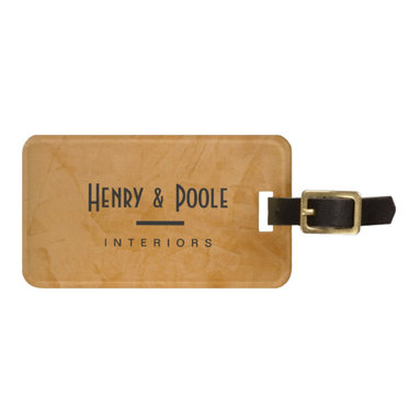 Classy Rustic Dante Orange Interior Designer Tags For Bags Business Branding - Corbin Henry