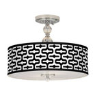 Giclee Gallery Reflection Pattern Semi-Flush Ceiling Light