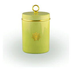 Maison Alma - Fig Signature Scented Candle - Place this exquisite candle on a side table or coffee table for a sophisticated look whether lit or not. The classic Limoges porcelain container with platinum accents adds style to any room. The fresh, green fig scent will fill your home with a delightful aroma.