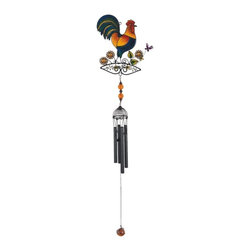 GSC - Wind Chime with Black Coated Gems Rooster Hanging Garden Decoration - This gorgeous Wind Chime with Black Coated Gems Rooster Hanging Garden Decoration has the finest details and highest quality you will find anywhere! Wind Chime with Black Coated Gems Rooster Hanging Garden Decoration is truly remarkable.