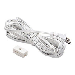 WAC Lighting - WAC L System 15-ft Cord, Male Plug and Switch - L System 15-ft cord with male plug and switch available in black or white.