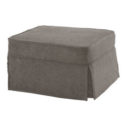 Castro Convertibles™ - Castro Convertible Sleeper Ottoman Twin Size W/Cover, Zen Gray - 39 inch Twin Size Castro Convertible™ ottoman with 5 inch thick Castropedic™ innerspring mattress