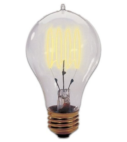 Incandescent Bulbs Bulbrite 134020 40-Watt Edison Quad Loop–Style Bulb