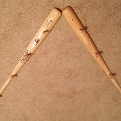 Baseball Bat Peg Hat Rack by California Chic by Jacquie K - Never misplace another baseball hat with this bat hat holder.