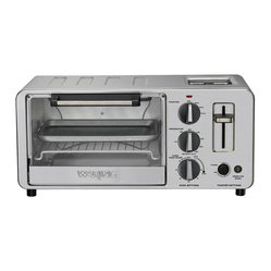Waring Pro - Waring Pro 1500-Watt Toaster Oven with Built-In Pop-Up Toaster - Toaster oven features a 4-slice, .45 cu. ft. capacity
