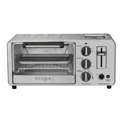 Waring Pro - Waring Pro 1500-Watt Toaster Oven with Built-In Pop-Up Toaster - Toaster oven features a 4-slice. .45 cu. ft. capacity