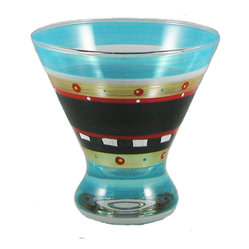 Golden Hill Studio - Mosaic Chalk Cosmo Glass - To be honest, the shelf life of this little piece of glassware is pretty short. Since you'll be reaching for it to serve cosmos, nuts, salads, condiments, desserts and spreads, it won't be spending much time on your kitchen shelf.