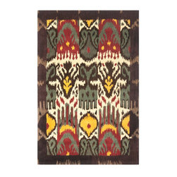 """Grandin Road - Nahall Area Rug - 2'3"""" x 8' - Rich red, gold, brown, and cream tones. Hand-tufted from 100% wool. Nonslip Rug Grip extends the life of the rug (sold separately). Imported. Nahall's bold geometric pattern and soft yarns soothe the senses while enlivening your floors. The tribal pattern is hand-tufted by artisans of ultra plush and thick wool.. . . ."""