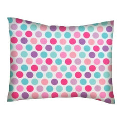 SheetWorld - SheetWorld Twin Pillow Case - Flannel Pillow Case - Pastel Colorful Dots - Twin pillow shams. Made of an all cotton flannel fabric. Fits a standard twin size pillow. Side Opening. Features pastel colorful dots.