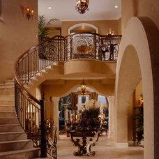 Mediterranean Staircase by Martin Architect, Inc.