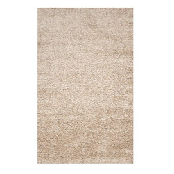 Surya - Surya Fusion Hand Woven Ivory Polyester Rug, 8' x 10' - Leave it to renowned interior designer Candice Olson to develop a rug that is retro, traditional and completely modern. The exciting shags of the Fusion Collection combine quality craftsmanship with the latest in fiber technology to create rugs that signify the essence of retro design. Available in cool, soothing tones of gray, taupe and ivory, each piece is hand-woven from polyester and is a textural masterpiece that is certain to enliven any room. Imported.Material: 100% PolyesterCare Instructions: Blot Stains
