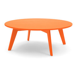 Lollygagger Coffee Table, Sunset Orange