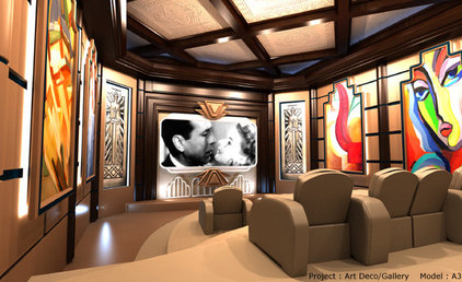 Contemporary Home Theater by elitehts.com