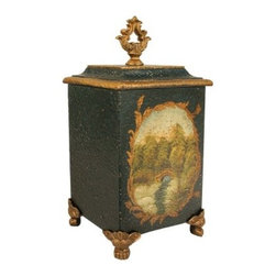 Elk Lighting 14H in. Bocelli Box - With its antique charm, the Elk Lighting 14H in. Bocelli Box is a perfect place to store your precious keepsakes. Crafted from solid metal, this box is beautifully painted in a bucolic scene you'll love.About E.L.K. LightingIn 1983, Adolf Ebenstein, Jonathan Lesko, and Russell King combined their lighting expertise to form E.L.K. Lighting Inc. From the company's beginning in eastern Pennsylvania, it has become a worldwide leader featuring manufacturing facilities and showrooms in the U.S. and abroad. Award-winning designs and state-of-the-art engineering give their lighting outstanding quality and value and has made E.L.K. the choice of such renowned places as the Historic Royal Palaces of England and George Vanderbilt's Biltmore Estates. Whether a unique custom design or one of their designer lines, all products are supported by highly trained technical and customer service teams. A commitment to providing superior lighting products with unmatched customer satisfaction remains at the heart of the E.L.K. family tradition.Please note this product does not ship to Pennsylvania.