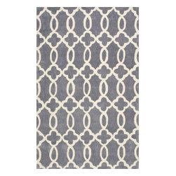 nuLOOM - Natasha - Trellis, Transitional, Contemporary, Geometric  Rug 100% Polyester, Gr - Grey (Trellis, Transitional, Contemporary, Geometric) Rug - 100% Polyester  - 5' x 8'