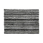 None - Linear Stripe Cotton 20 x 28-inch Bath Mat - In a fun contemporary thin stripe design, this 100-percent cotton bath mat is very absorbent. The soft rug has a rich pile for great comfort for the feet.