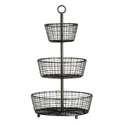 Three-Tier Basket - I use a tier of baskets just like this in my kitchen for fruit and vegetables. And now I think I need another one in the bathroom for towels and soaps.