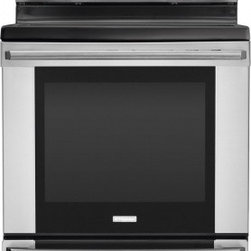 """Electrolux - IQ-Touch Series EI30EF35JS 30"""" Freestanding Electric Range With 5 Radiant Elemen - Take your baking to a whole new level with this high quality range It features a 58 cu ft self-clean oven which you will adore Also it has Flex-2-Fit Ceramic Glass Smoothtop Luxury hold ove door hidden bake elemtn storage drawer and much much more"""