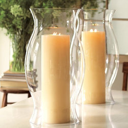 Hourglass Hurricane Sleeve - Nothing is classier than placing a simple white candle in a hurricane. It's the best way to jazz up a boring mantel.