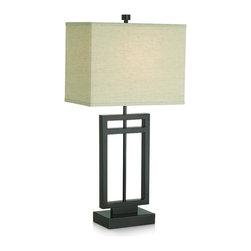 Pacific Coast Lighting - Pacific Coast Lighting 87-6576-20 Central Loft Table Lamp - Bronze Finish